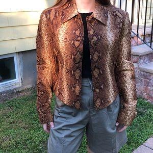Carlisle 4 brown/tan snake print jacket